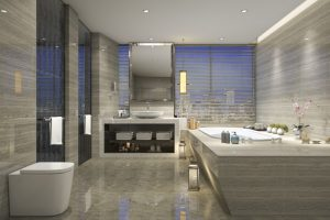 topmoderne badeværelse