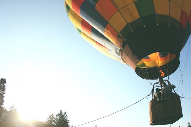 herretur med ballonflyvning