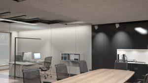 akustikpanel på kontor